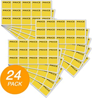 Emraw Super Great Yellow Price Mark Label Stickers - Great for School, Home & Office – 180 Labels Per Pack - (2-Pack)