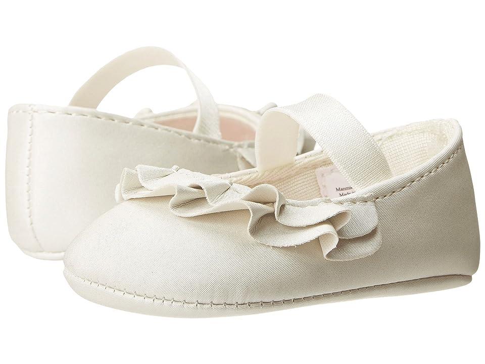 Baby Deer Ruffle Skimmer Mary Jane (Infant) (White) Girls Shoes