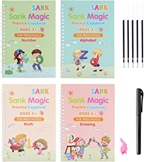 Magic Practice Copybook Kids   Beginners Guide Reusable Notebook   Set of Caligraphy Pen Kits for Kids with Audible Books...