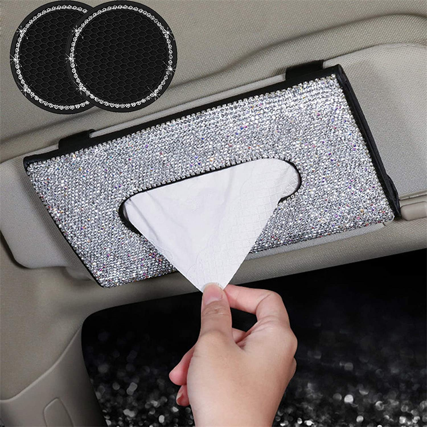 dayutech 3 Pcs Bling Max 49% OFF Car Women Accessories Tissue for Credence