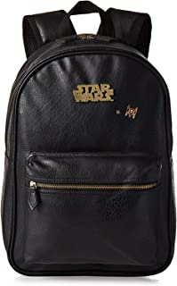 Lucas StarWars Fashion Backpack For Kids, Faux Leather - Black