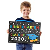 Kindergarten Graduation Photo Booth Props Party Supplies Decorations Gifts for Boys or Girls | Includes Kindergarten Graduate Class of 2020 Sign Poster [Printable] Designed by Katie Doodle