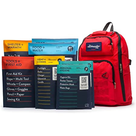 Complete Earthquake Bag - 3 Day Emergency kit for Earthquakes, Hurricanes, Wildfires, Floods + Other disasters