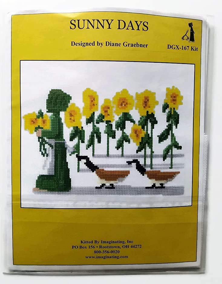 Sunny Days Sunflower and Ducks Counted Cross Stitch