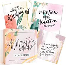 Affirmation Cards for Women: Beautifully Illustrated Inspirational Cards with Positive Affirmations to Help with Gratitude...