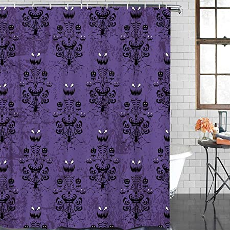 BEST Haunted mansion stretching Disney Fabric Shower Curtain 60x72 66x72