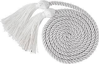 white graduation cord