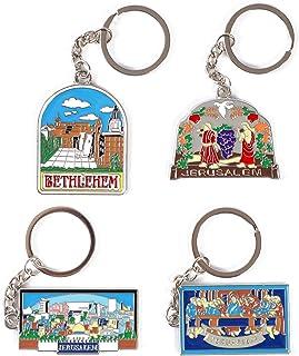 Jerusalem Keychains (Sliver, 4 Pack)