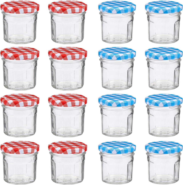 HEMOTON 12pcs Glass Honey Bargain Jars Jam OFFicial shop Lids Hexagonal Hone with