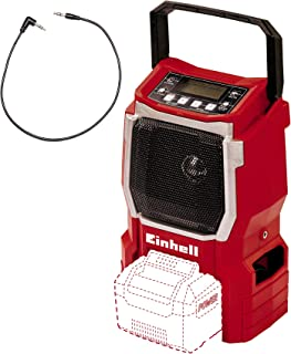 Sponsored Ad – Einhell 3408015 TE-CR 18 Li Solo Power X-Change Cordless Radio - Supplied without Battery and Charger, Red,...