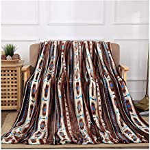All American Collection New Super Soft Printed Throw Blanket (King Size, Coffee Southwest)