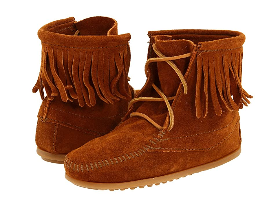 Minnetonka Kids Ankle Hi Tramper Boot (Toddler/Little Kid/Big Kid) (Brown Suede) Girls Shoes