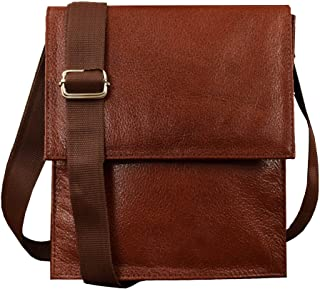 ABYS Genuine Leather Handbags, Purses & Clutches||Sling & Cross-Body Bags For Women And Girl's(Brown)