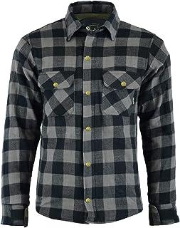 BULLDT Camisa de motorista para hombre, aspecto de leñador, camisa de motorista, camisa gris 58/3XL
