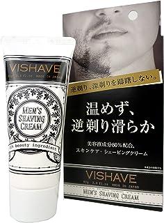 リベルタ ヴィシェーブ 逆剃り対応 シェービングクリーム 時短簡単 アフターシェーブ もこれ一本 美容液配合 単品 80グラム (x 1)