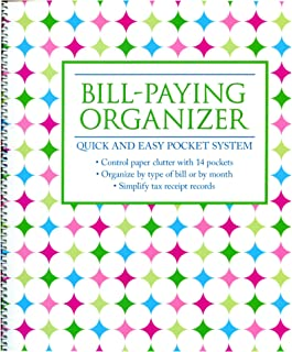 $21 » Monthly Bill Paying Organizing Organizer Budget Book with Pockets - Neon Dots