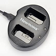 Newmowa Dual USB Charger for Sony NP-FW50 and Alpha a3000, Alpha a5000, Alpha a6000, A6300,Alpha 7, a7, Alpha 7R, a7R, Alpha 7S, a7S, NEX-3, NEX-3N, NEX-5, NEX-5N, NEX-5R, NEX-5T, NEX-6, NEX-7, NEX-C3, NEX-F3, SLT-A33, SLT-A35, SLT-A37, SLT-A55V, Cyber-shot DSC-RX10