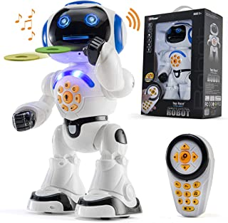Top Race Remote Control Robot Toy Walking Talking Dancing...