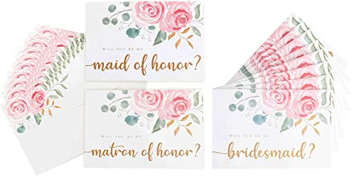 high quality Bridesmaid Proposal Cards with lowest Maid and Matron of Honor (10 outlet sale Cards with Envelopes - 8x Bridesmaid and 1x Maid and Matron) online sale