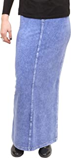 hard tail long denim skirt