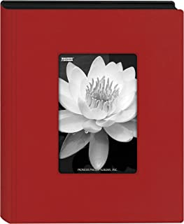 Pioneer Photo Albums Mini Frame Cover Photo Album, Holds 24 Photos, Red, 4