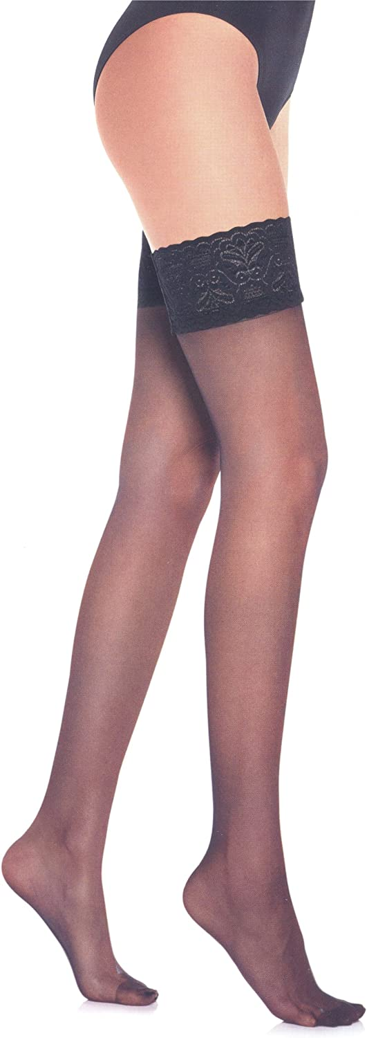 Lupo Women's Lace Thigh High Stocking
