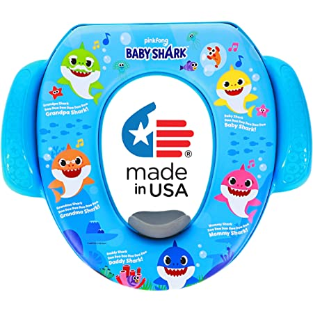Ginsey PinkFong Baby Shark Soft Potty Training Seat, Sharktastic