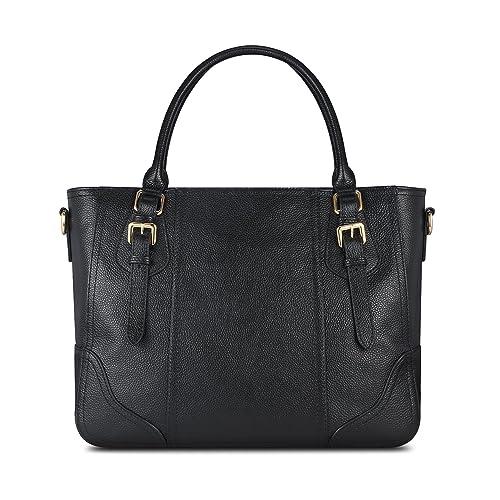 Kattee Vintage Genuine Soft Leather Shoulder Handbag 3d880af1b2