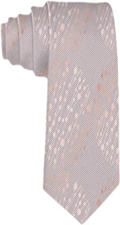 SARA NELL Classic Men's Tie Silk Necktie Abstract Pattern With Rose Gold Imitation Neck Ties