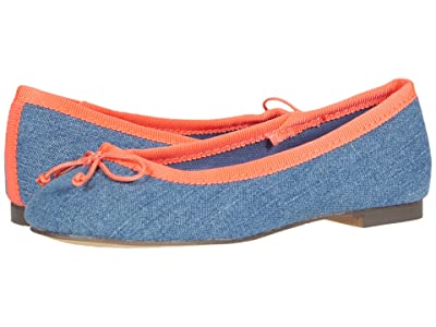 crewcuts by J.Crew Chambray Ballet Flat (Toddler/Little Kid/Big Kid) (Chambray Multi) Girl