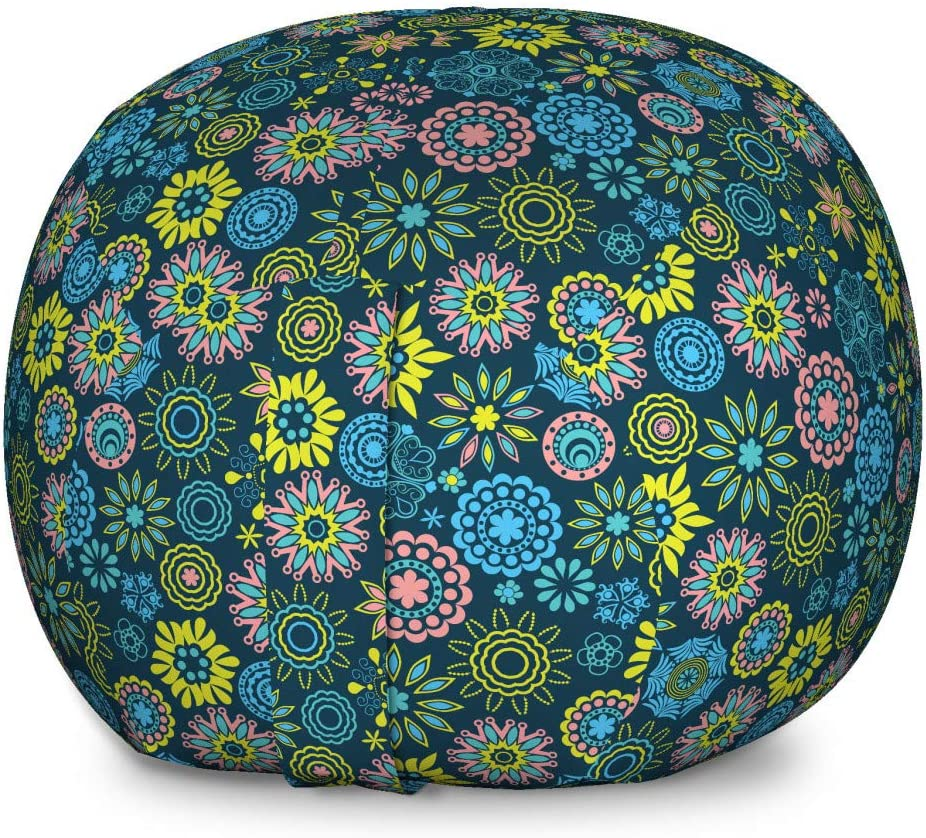 Spring new work one after another Ambesonne Floral Storage Toy Bag Oklahoma City Mall Flowers Snowflake Chair Ornate