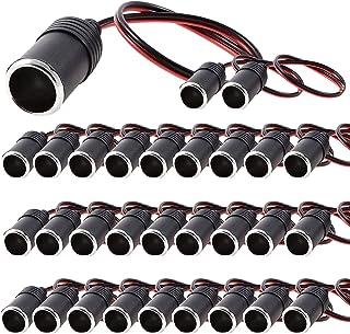 30個セット 増設シガーソケット メス 12V&24V対応 ETC ドライブレコーダー レーダー 探知機 電源 充電器 取付に