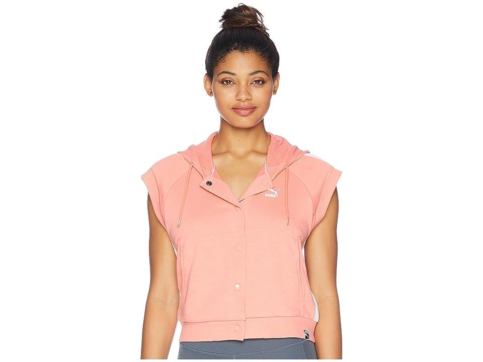 PUMA Classics SL Logo T7 Hoodie (Shell Pink) Women