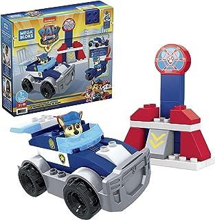 Mega Bloks PAW Patrol Chase's City Police Cruiser with Mini Building Blocks, Building Toys for Kids 3 Years & Older (31 Pi...
