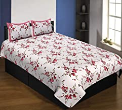 Jaipur Fabric 240 TC 100% Pure Cotton Jaipuri Single Bedsheet with 2 Pillow Cover Set (70 inch x 100 inch)