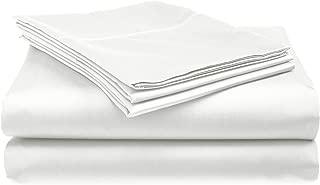 Belle Epoque 420-Thread Count Sheet Set with Hemstitch, Queen, White