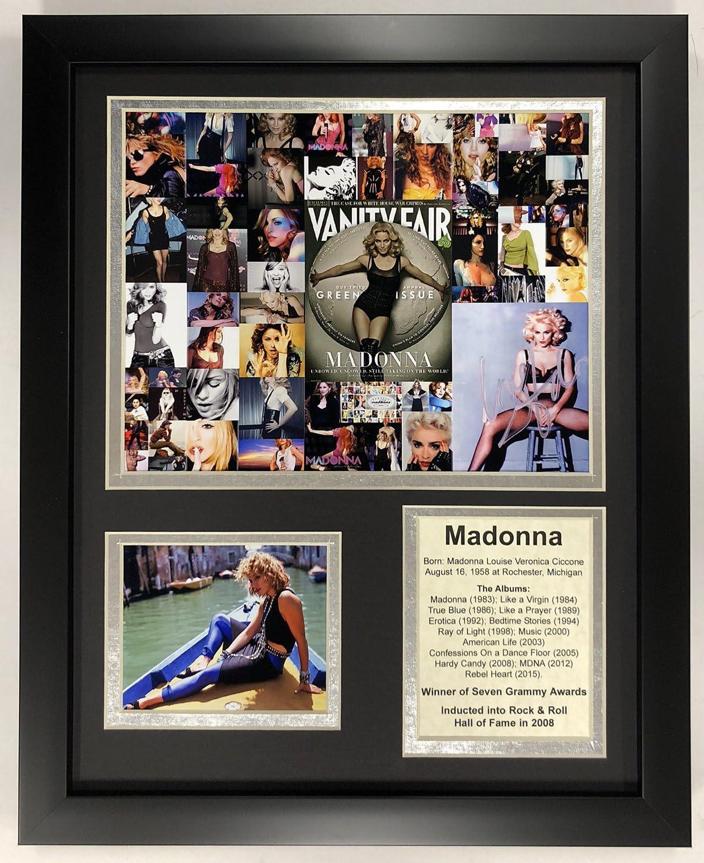 Legends Never Die 激安特価品 Madonna Mosaic Double 12 Matted Photos Framed 在庫一掃