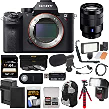 Sony Alpha A7R II 4K Wi-Fi Digital Camera Body with T FE 24-70mm f/4.0 Lens + 64GB Card + Battery + Charger + Backpack + Flash + LED + Tripod Kit