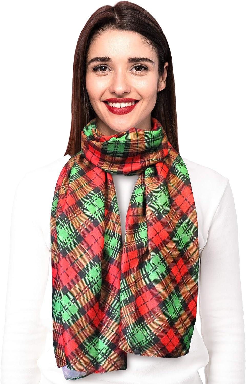 CBC Crown Christmas Scarf - Christmas, Snowman, Snowflakes Theme Fashion Scarf