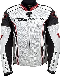Scorpion Clutch Men's Leather Street Motorcycle Jacket - White/Red/Medium