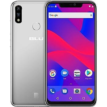 "BLU VIVO XI+ - 6.2"" Full HD+ Smartphone GSM Unlocked and Verizon Compatible, 128GB+6GB RAM, AI Dual Cameras -Silver"