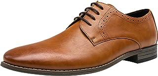 JOUSEN Men's Oxford Plain Toe Dress Shoes Classic Formal Derby Shoes