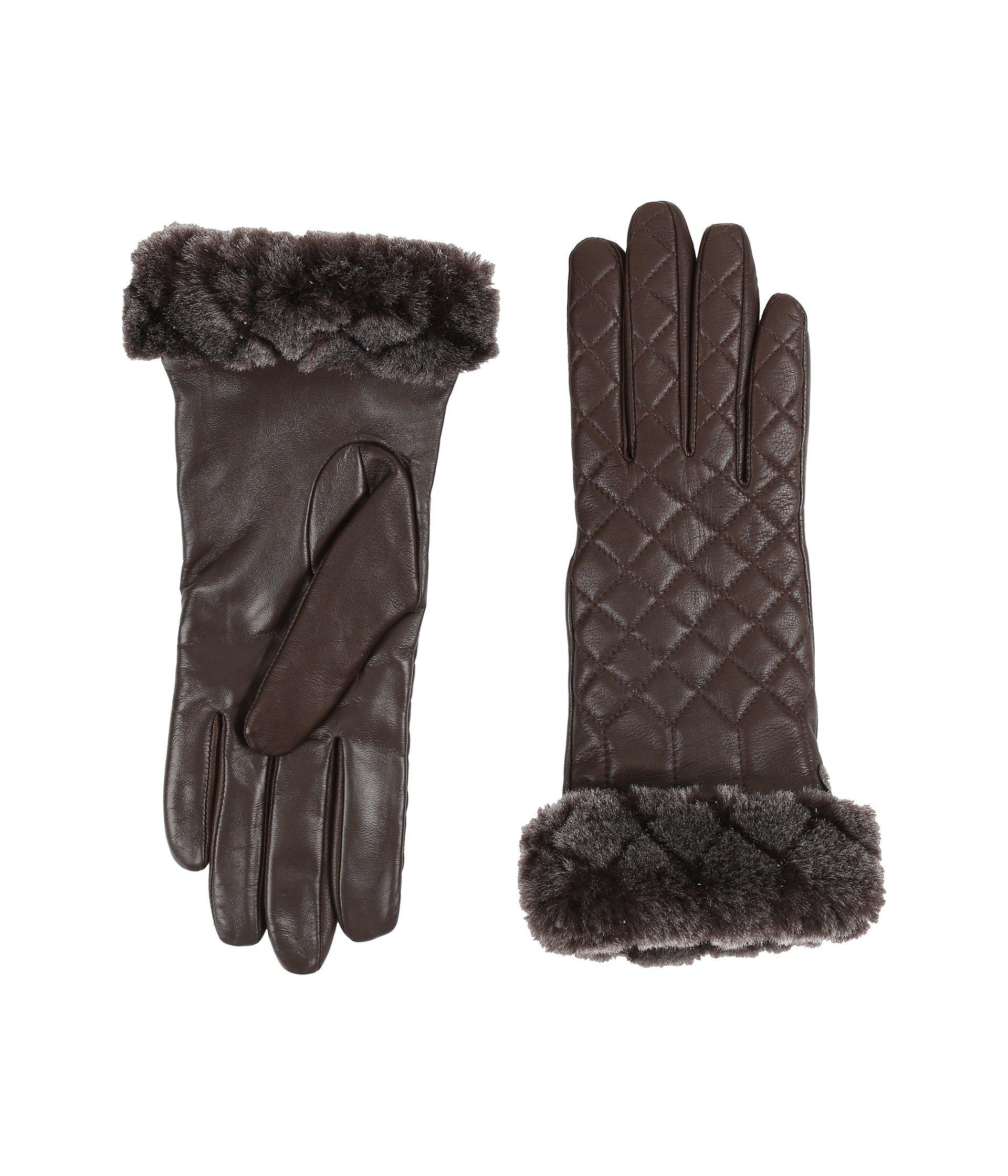 Guantes para Mujer UGG Quilted Croft Leather Smart Gloves  + UGG en VeoyCompro.net