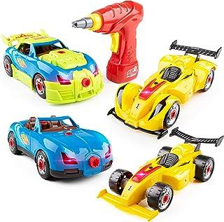 USA Toyz Race Car Take Apart Toys – 52pk Build a Car STEM Building Toys Set, Take Apart Car Building Kits for Kids w/ Car Drill Tool for Boys or Girls