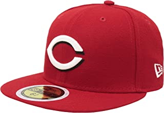 New Era 59Fifty Cap MLB Cincinnati Reds Boys Kids Youth Size Black Red 5950 Hat