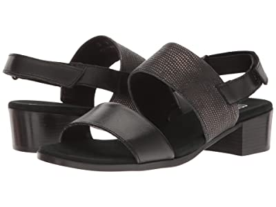 Munro Kristal (Black/Black Lizard Trim) Women