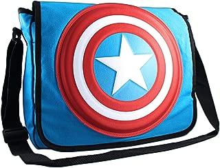 Silver Buffalo MC4701MB3 Marvel Captain America Shield 3D Messenger Bag