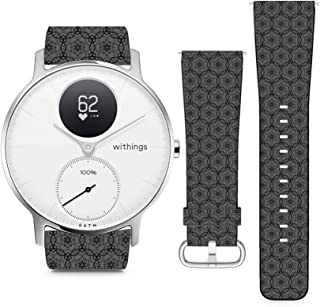 Compatible with Withings (Nokia) Steel HR 36mm // 18mm Leather Replacement Bracelet Strap Wristband with Quick Release Pin...