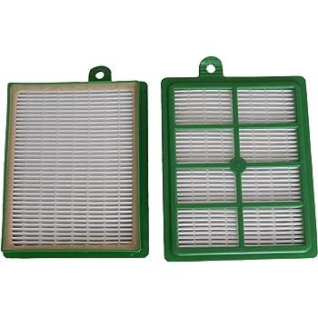2 HEPA-Filter geeignet für Philips FC 9150//01 20 Staubsaugerbeutel