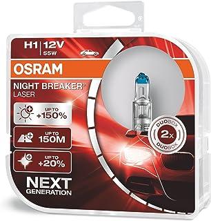 OSRAM 64150NL-HCB Gen 2 NIGHT BREAKER LASER H1- Bombillas H1 para Faros Delanteros, 12V, +150% más Luz 12V, Duo Box (2 Lám...